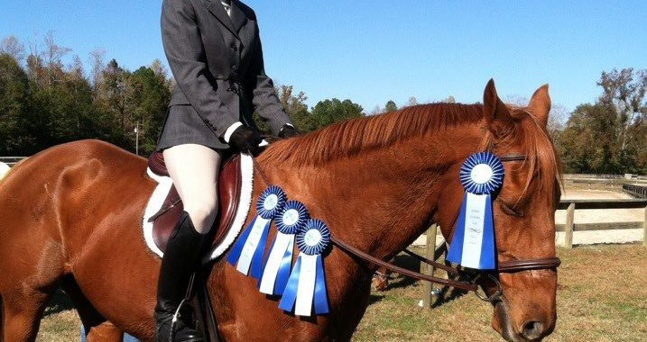 Kerri and Chopper on an especially successful show day.